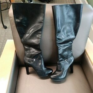 Leather High Nine West Boots ( NEW )